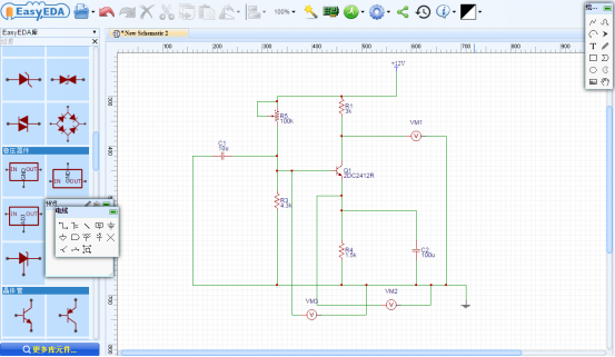 Electrical circuit design and simulation online By using